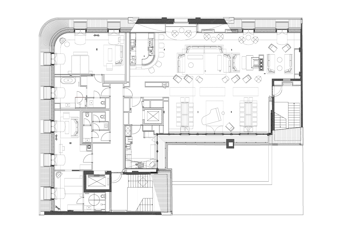 Floor plan of the Orania.Loft in Berlin Kreuzberg